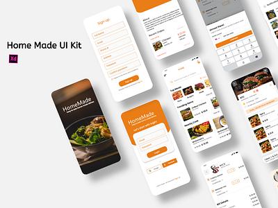Home Made  Food Mockups restaurant app restaurant mockup ui design food ui kit food delivery