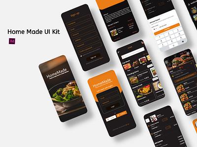 Home Made Food Mockups restaurant ui mockup food ui kit food delivery restaurant app design