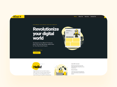 Revolutionize your digital world    QdeskIT uiux landing ux webdesigner uidesign ui website design webdesign website webdevelopment