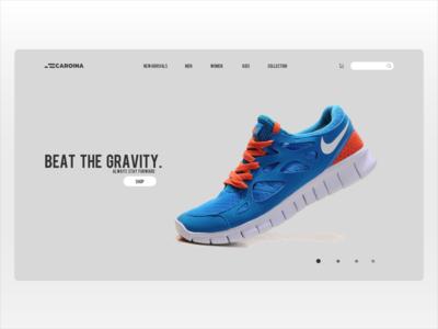 Caroina Shoe E-Commerce Landing Page
