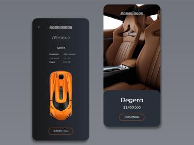 Car Buying App UI