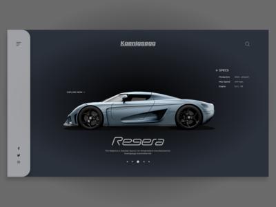 Koenigsegg Car Website Landing Page UI - Concept