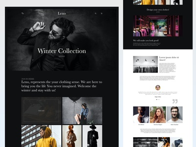 Leno - Clothing Brand Website Exploration