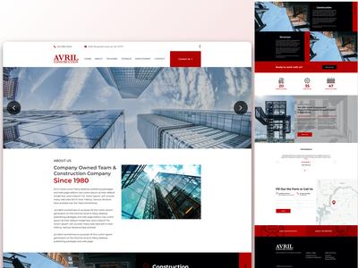 Avril Construction - Website Visual Exploration