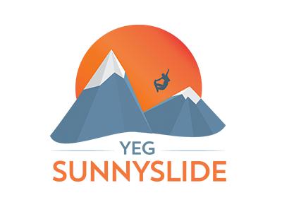 Sunnyslide snowboard snow geometric flat gradient sunny slide edmonton mountains sun