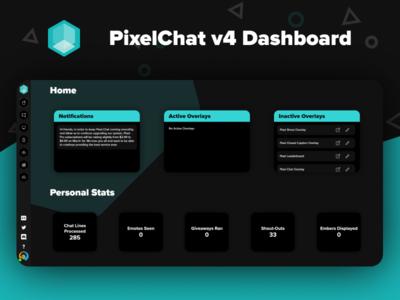PixelChat v4 Dashboard dashboard uidesign ui v4 chat pixel