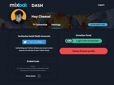 Mixlook Dashboard - Settings