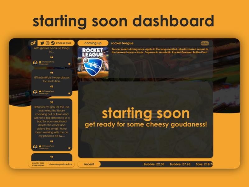Starting Soon Dashboard