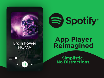 Spotify App Player Reimagined