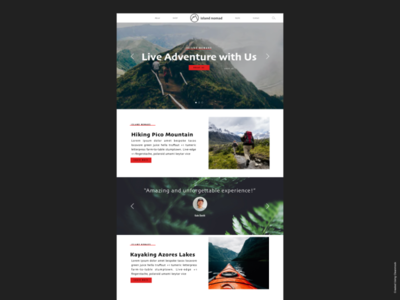 Azores landing page