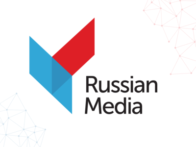 Logo Russian Media logo russia-media branding