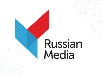 Logo Russian Media logo russia-media branding