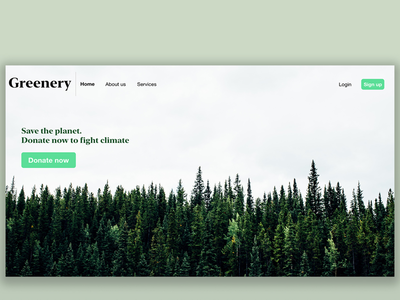 Website design prototype for fighting climate change