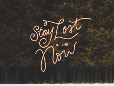 Stay Lost adventure handrawn wip doodle typography forest lost lettering type