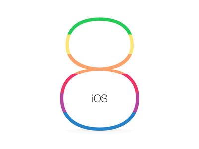 ios8 clean ios8 ios apple flat logo branding vintage rainbow iphone ipad