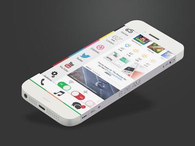 Ios 8 Infinity ios apple flat iphone 6 concept infinity ios7 home screen ios8 stripes