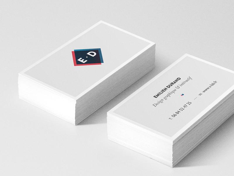 new business cards logo branding identity self promo flat minimal print