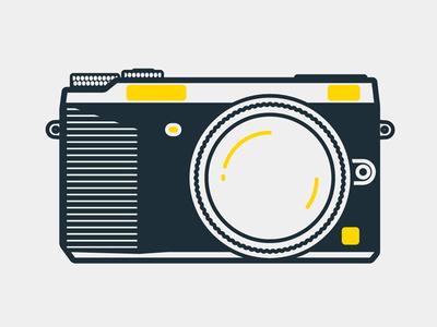 Lumix GX7 lumix gx7 camera icon line illustration minimal flat