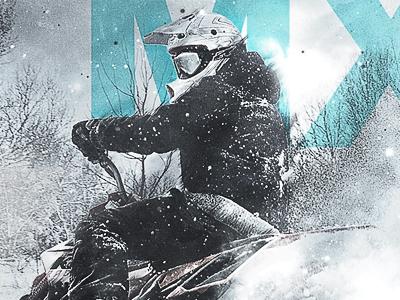 snow + mx poster poster type design mx moto ride