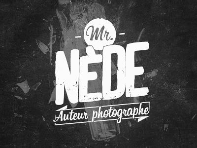 Mr. Nède logo typography logo logotype photographer type texture branding identity print