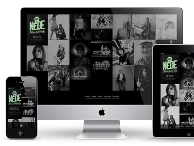 Mr. Nède / responsive layout interface design ios responsive iphone ipad website webdesign grid ui html5 css3