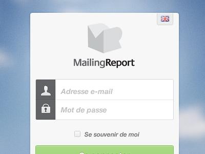 MailingReport Loginbox ui clean subtle login form input text interface
