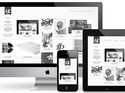 Portfolio redesign subtle portfolio clean minimal ui interface design web design grid adaptative responsive ipad iphone mobile