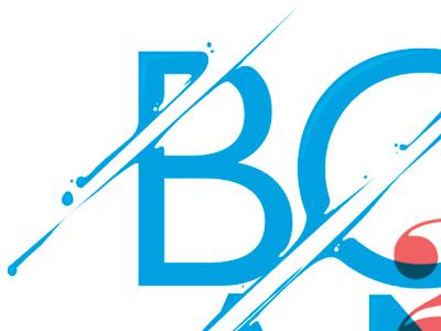 Happy 2013 wishes typography illustration type paint splash vector