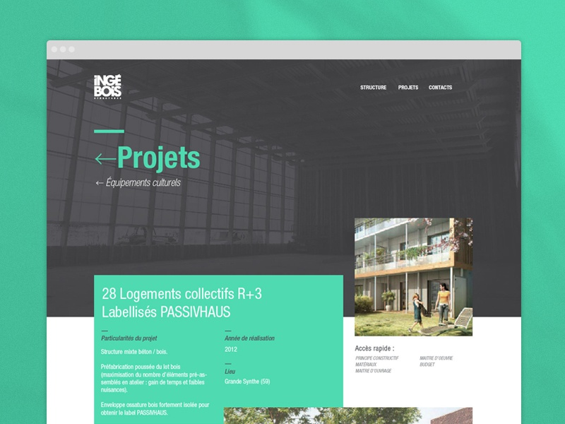 Ingebois / projects page web projects flat ui web design website clean