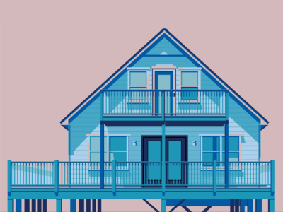Gulf Shores Blue House
