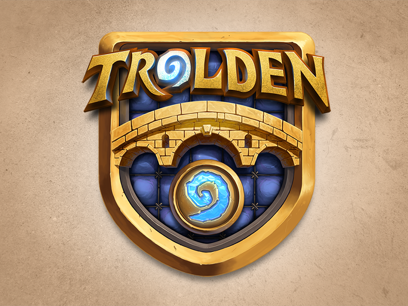 Trolden Logo trolden hearthstone warcraft cards logo