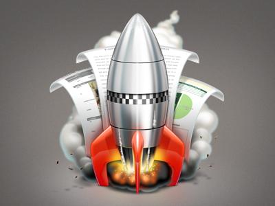Rocketter rocket mac apple smoke doc start shiny icon