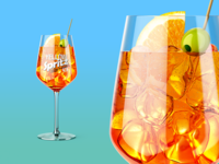Spritz Cocktail Glass Mockup