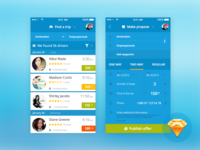Blablacar and other ride sharing services redesign