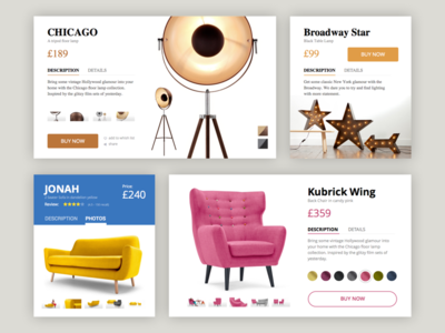 Product Card - Rebound sketchapp e-commerce cart shop product card rebound design app ux ui