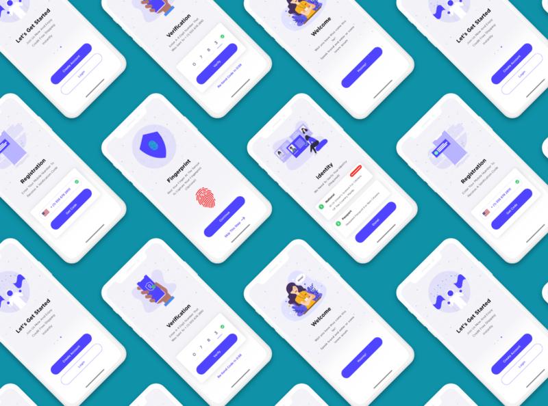 Verification App user experience ui design uiux