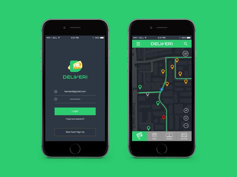 Deliveri - App UI
