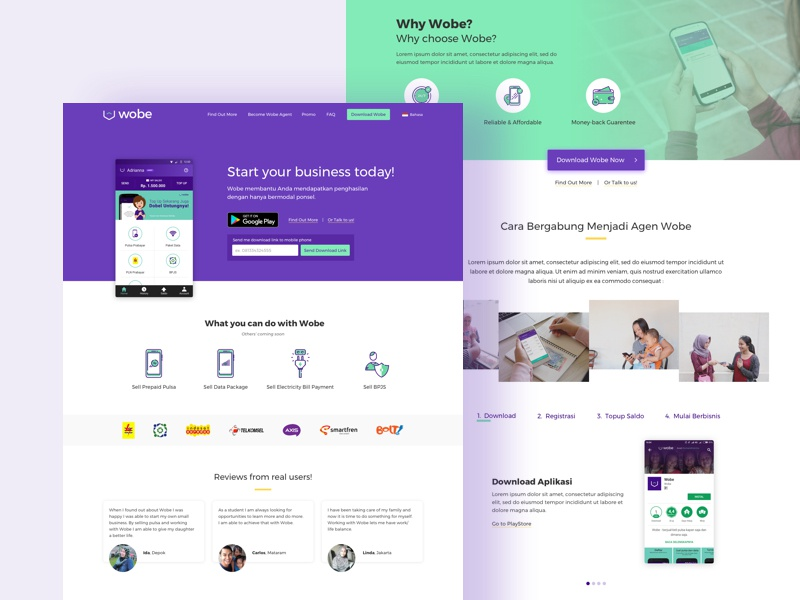 Website for Self-employment App (WIP)