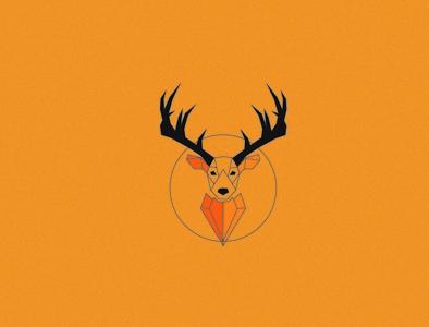 Deer minimal icon logodesign branding wallpaper logo poster design vector illustration