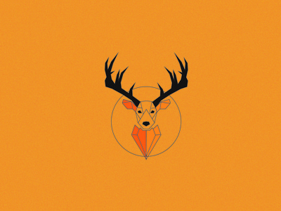 Deer minimal icon logodesign branding wallpaper logo poster design vector illustration