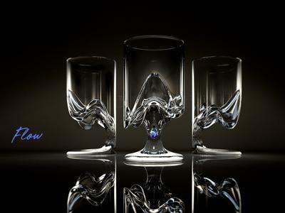 Flow glass