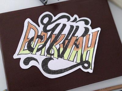 D A K W A H handlettering lettering handtype islamic dawah dakwah