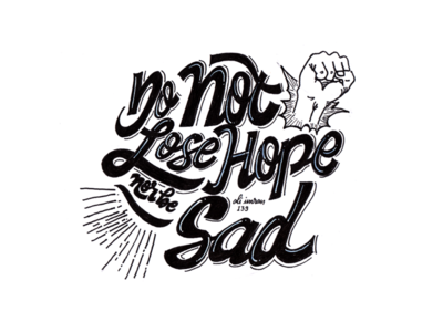 Islamic Quote Handlettering : Dont Lose Hope