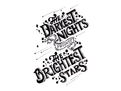 Positive Vibes Quote : The Darkest Night