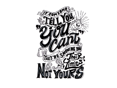 Good Vibes Quote Lettering : You're Limitless!