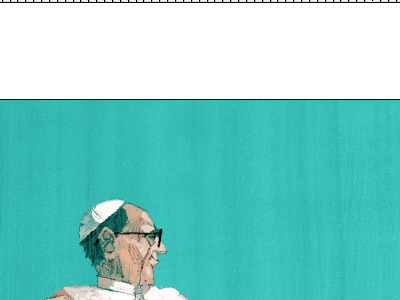 Pope Francis the tree house press marc aspinall illustration tthp painting digital editorial pope