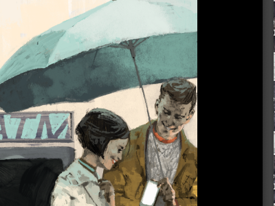 Gotta Love... colour illustration wip marc aspinall