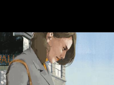 Walk colour illustration wip marc aspinall