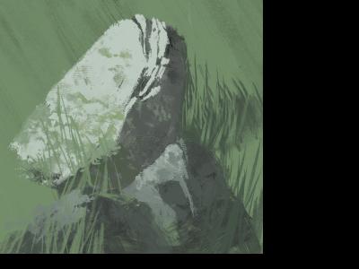 Rocks colour illustration wip marc aspinall