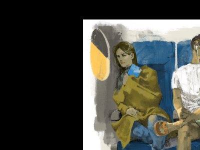 In Flight colour illustration wip marc aspinall